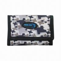 China Tri-fold Sports Wallet, Made of 600D Polyester on sale