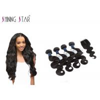 Wholesale 4 Bundles Unprocessed Remy Hair Extensions Weave With Closure No Bad Smell from china suppliers