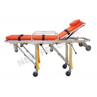 China Foldable Aluminum alloy Ambulance Stretcher Trolley with ISO9001 / 13485 on sale