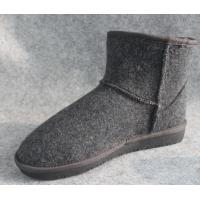 Wholesale Mens Winter Warm Indoor 100% Wool Felt Shoes and Boots For Home from china suppliers