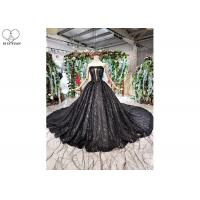 Wholesale Black Custom Beautiful Sparkly Prom Dresses Strapless Bust Hollow Shining Beads from china suppliers