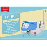 Quality 10ms-100ms Adjustable 980nm Diode Laser Spider Vein Vascular Removal Machine for sale