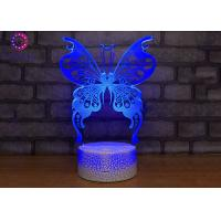 Wholesale Butterfly Lamps for Girls Bedroom Baby Night Light Butterfly 7 Colors Change with Remote from china suppliers