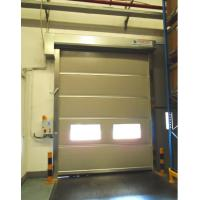 2.0mm Stainless Steel Frame Industrial High Speed Door , Production Line Roll Up Security Gate Manufactures