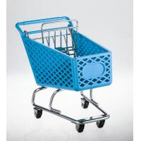Wholesale Wheeled shopping trolley With metal base and back gate in chrome plated from china suppliers