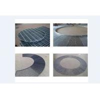 China Powder Coated Steel Grating Plate , Welded Steel Bar Grating 30-60mm Bar Pitch on sale