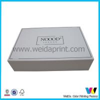 Double Sided Glossy Paper Packaging Boxes Collapsible on Four Edges , Flat Packaging Manufactures