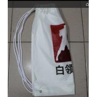 Wholesale White Double Plastic Drawstring Backpack For Riding , Playing , Swimming from china suppliers