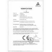 Ming Feng Lighting Co.,Ltd. Certifications