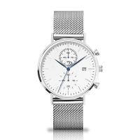 Wholesale Quartz Chronograph Silver Stainless Steel Watch With Interchangeable Mesh Band from china suppliers