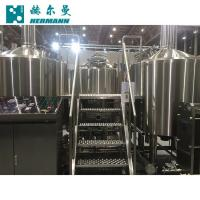 China Efficient 10BBL Beer Plant Machinery Brushed Stainless Steel Surface on sale