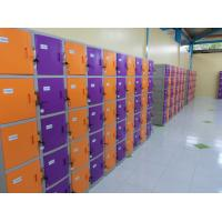 Wholesale Waterproof Storage Locker ABS Material Yellow / Orange with keyless lock from china suppliers
