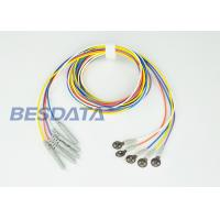 China Disposable EEG Electrodes / EEG Disc Electrodes With 150cm Non Tangle Silicone Rubber Leads on sale