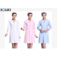 Wholesale Short Sleeve White / Pink Nurse Uniform Dress With Long Style Coat from china suppliers