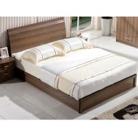 Wholesale Cheap style rent Apartment home furniture melamine plate bed 1.2m- 1.5m-1.8 m light walnut color from china suppliers