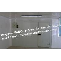 Quality Fire resistant Walk in Fridge Made Of Sandwich Panel With Sliding Door Cooler Box for sale