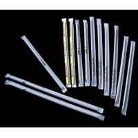China Individually Paper wrapped drinking straws with logo printing on paper wrapper on sale