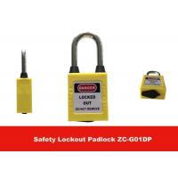 Wholesale 6mm Diameter 38mm Shackle Length Dustproof Plastic Safety Lockout Padlocks from china suppliers