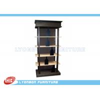Buy cheap Fashionable Black Solid Wooden Display Racks SGS For Wine Presenting from wholesalers