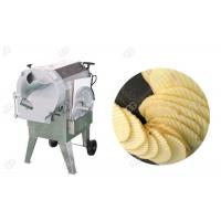 Corrugated Cucumber And Potato Slicer Machine Crinkle Chips  Easy Change Blade Henan GELGOOG