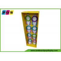 China Cardboard POP Side Wing Display , Metal Pegs Product Display Stands For Skipping Rope SK026 on sale