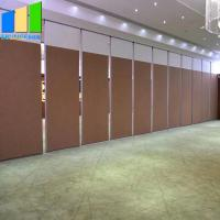 Wholesale Mdf Folding Door Movable Dividing Vip Room Divider Soundproof Folding Partition Walls With Track For Hotel from china suppliers