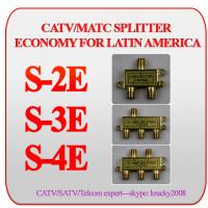China CATV/MATV 4-way splitter economy version for latin america on sale