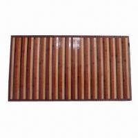 Wholesale Bamboo Mat with 4cm Nylon Border and Anti-slip Back from china suppliers