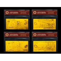 Full New Zealand Bank Note Set Plated 24K Gold Banknote With Pure 99.9% 24K Golden Manufactures