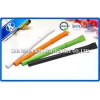 China Orange Paper Wrapped Ball Point Pens For Gift , Recycled Point Pens on sale