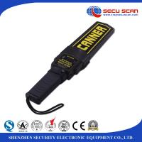 Buy cheap Black Lightweight Hand Held Metal Detector Supper Scanner On / Off Switch Vibration Control product
