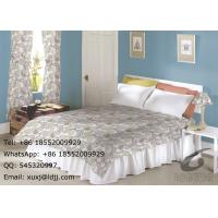 135gsm 100% Polyester Panel Window Curtains And Bed Set Paisley Design Manufactures