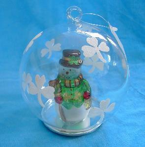 Wholesale Christmas Ball-Irish Style Snowman Lighting Ball (Sr-080318) from china suppliers