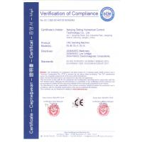 Nanjing Diding Numerical Control Technology Co., Ltd. Certifications