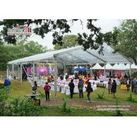 Luxury Outdoor Transparent Tent / Clear Roof Party Wedding Tent For 500 People for sale