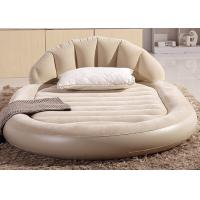 Wholesale Low Round Inflatable Air Mattress King Size Flocked PVC Material 13 . 6KG G . W . from china suppliers