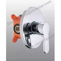 Quality Wall mounted rain shower faucet bathroom faucet parts without diverter,in wall round embedded shower faucet for sale