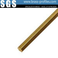 China Factory Made Hot Wholesale Cheap High Precision Brass Extrusion Hex Rods on sale