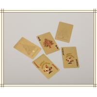 Christmas day gifts Custom Gold Playing Cards WITH Both sides Manufactures