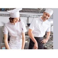 Wholesale Single Breasted Chef Cook Uniform Embroidered Chef Coats For Spring / Autumn / Winter from china suppliers