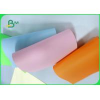 Width 61 * 86cm feel good bright colors 80gsm 90gsm Colored offfset paper in roll
