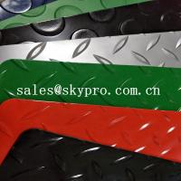 China Colorful Plastic Sheet diamond embossing mat , PVC garage floor mats on sale