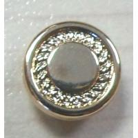 China Fashion Flat Surface Rivet, Art.1911, 8mm, Light Gold Color on sale
