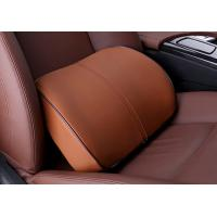 China Coffee Memory Foam Car Seat Waist Or Back Support Artificial Leather Cover on sale