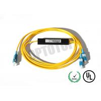 China 2mm Corning OS2 Cable Fiber Optic PLC Splitter , Passive Fiber Optic Splitter on sale