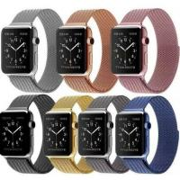 Wholesale 38mm Magnetic Stainless Steel Milan Nice Apple Watch Belts Wrist Band Cheap 42mm Iwatch Belt Gold Silver Rose Red Color from china suppliers