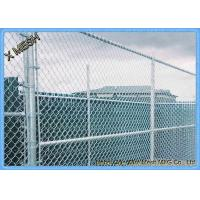 Wholesale 9 Gauge Aluminum Coated Steel Chain Link Fence Privacy Fabric for Commercial residential from china suppliers
