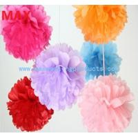 Wholesale Colorful (4-36) Tissue Paper Pom Poms, Pom Poms Flower Balls for Decoration from china suppliers