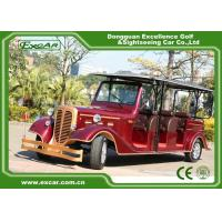 Wholesale Classic Design Red Vintage Golf Car Tourist Car With CE Approved from china suppliers