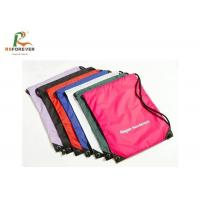 Wholesale Waterproof Custom Printed Bags , Foldable Nylon Polyester Drawstring Backpack from china suppliers